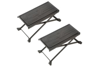 2PK Hercules Guitar Foot Stool Rest Adjustable Height Angle Non-slip Rubber/Pad