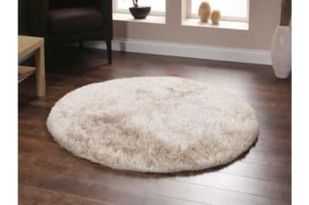 Twilight Shag Rug - Natural Round Rug