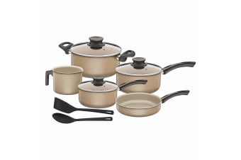 Tramontina Paris Granito Cookware Set (Pack Of 10) (Gold) (One Size)