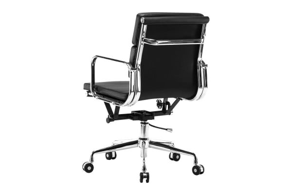 Ergolux Eames Replica Low Back Padded Office Chair - Executive Collection (Black)