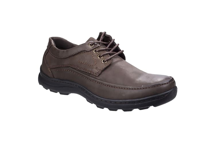 Fleet & Foster Mens Leather Luxor Lace-Up Shoes (Brown) (9 UK)