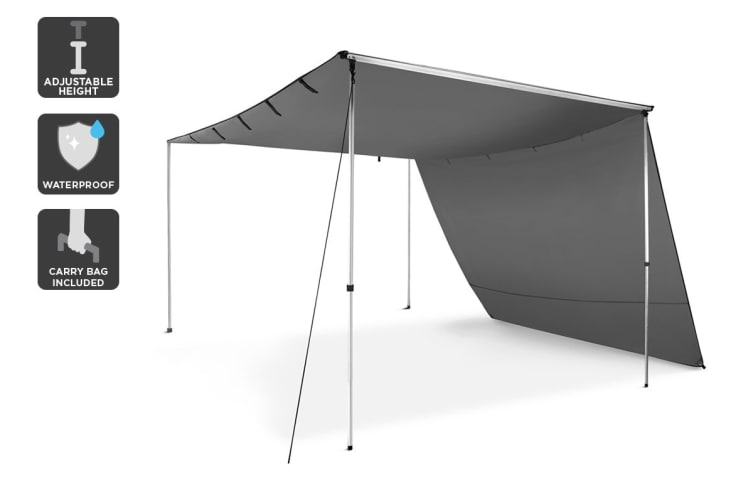 Komodo 4WD Car Awning and Extension (2.5m x 3m)