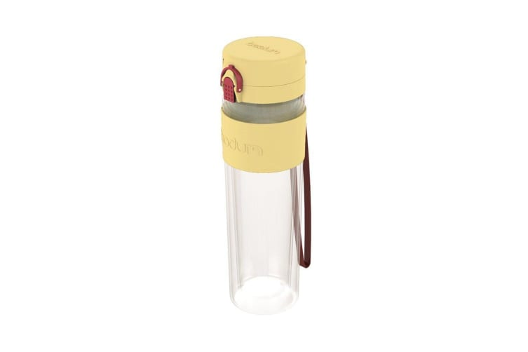Bodum Bistro Double Wall Drink Bottle with Strap 500ml Pastel Yellow