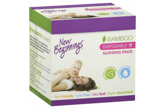 40pc New Beginnings Ultra-Soft/Leak-Proof Disposable Nursing Pads f/ Mothers