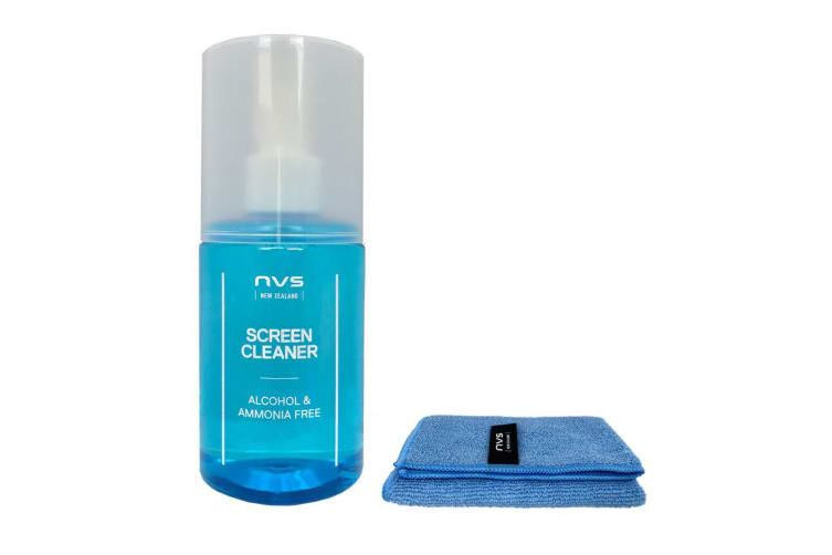 2x 200ml NVS Cleaner/Microfibre Cloth Cleaning Kit f/Computer Screens/Monitor