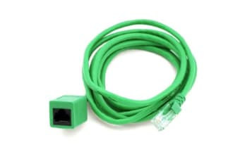 8Ware RJ45 Male to Female Cat5e Network/ Ethernet Cable 2m Green - Standard network extension cable