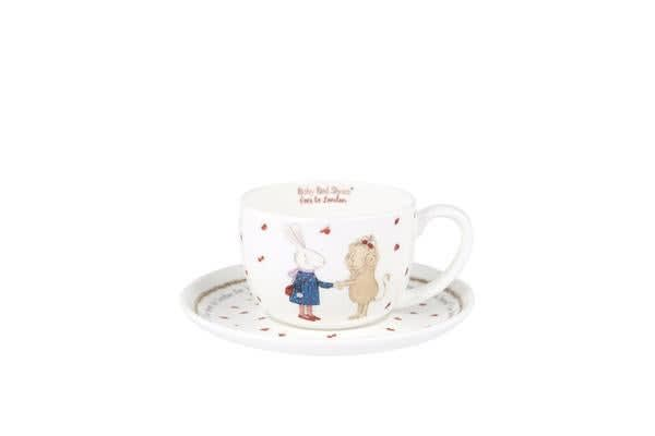 Ashdene Ruby Red Shoes Goes To London Teacup & Saucer 100ml London Lion
