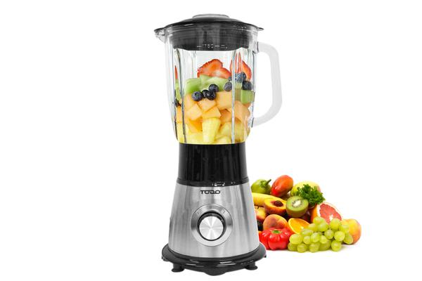 Todo 1.75L Stainless Steel Electric Blender Processor Glass Jar 500W 3 Speed