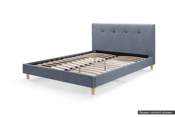 Ovela Bed Frame - Arezzo Collection (Pewter Grey, King)