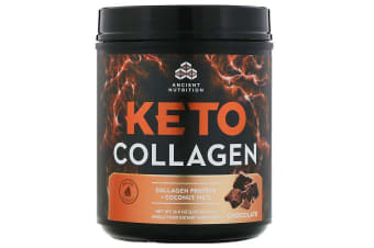Dr. Axe / Ancient Nutrition Keto Collagen Collagen Protein + Coconut MCTs - Chocolate 460g