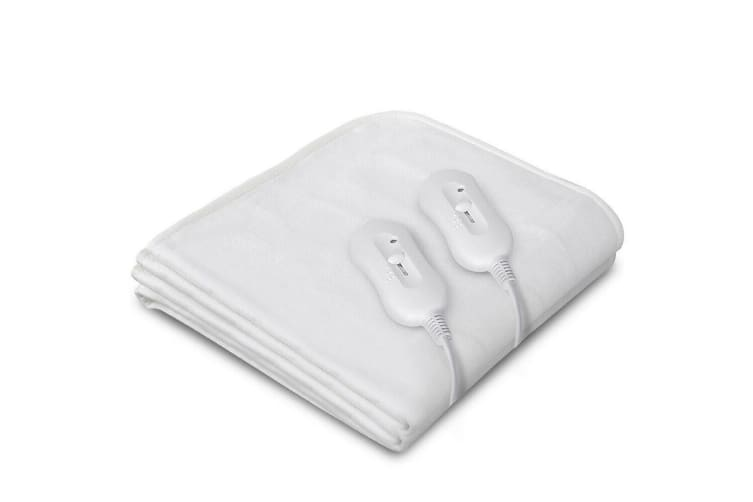 Royal Comfort Fully Fitted Electric Blanket Heated Winter Warm Bedding All Sizes - King - White