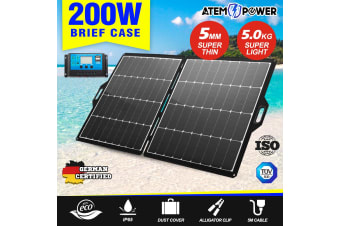 ATEM POWER 200W 12V Folding Solar Panel Blanket kit Caravan Camping Power Charger