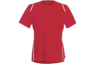 Gamegear® Cooltex® Short Sleeved T-Shirt / Mens Sportswear (Red/White) (XS)