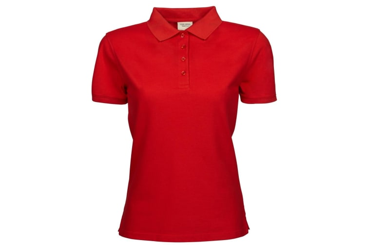 Tee Jays Womens/Ladies Heavy Short Sleeve Polo Shirt (Red) (XL)