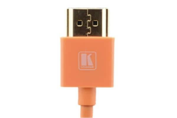 Kramer Ultra Slim High Speed HDMI Flexible Cable with Ethernet - 91.44cm - Orange