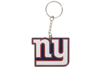 NFL New York Giants Official Metal Crest Keyring (White/Navy/Red) (One Size)