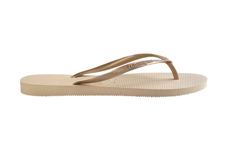 Havaianas Slim Thongs (Sand Grey/Light Golden, Size 35/36 BR)