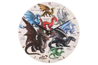 Age Of Dragons 34cm Dragons Of The World Clock (Multicoloured)