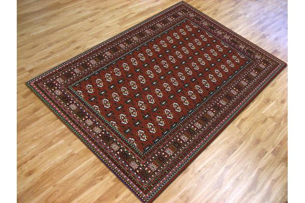 Traditional Rug Burgundy and Black 230x160cm