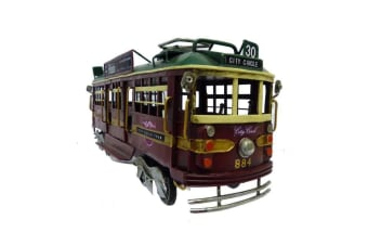 Melbourne City Circle Tram Train replica Model Handmade Rail Tin 34cm