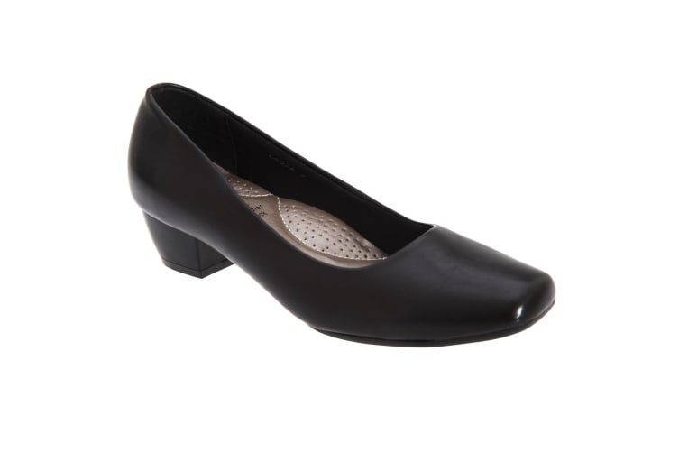 Boulevard Womens/Ladies Low Heel Plain Court Shoes (Black) (6 UK)