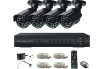 4 Channel 4 Camera Dvr Home Security System With 1tb Hdd Installed