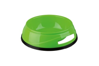 Trixie Plastic Dog Bowl With Rubber Base - ASRTD (Assorted) (0.75 L)