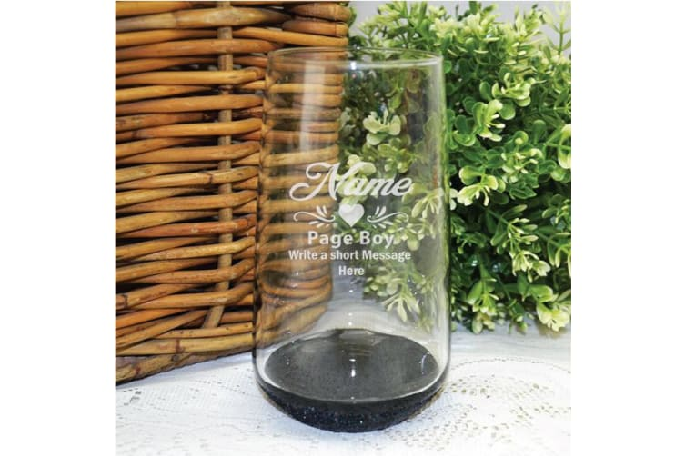 Page Boy Engraved Personalised Glass Tumbler 400ml