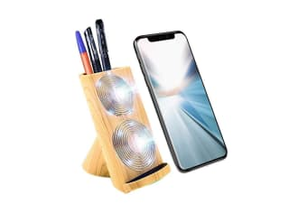 Wooden Pattern Fast Wireless Charger For iPhone XS X For Samsung Note 9 S9 Plus