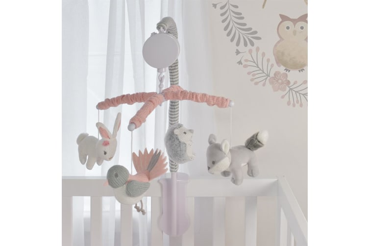 Lolli Living Musical Cot Mobile Set Forest Friends