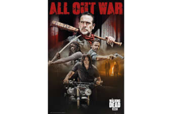 The Walking Dead All Out War Poster (Multicoloured)