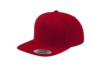 Yupoong Mens The Classic Premium Snapback Cap (Red/Red) (One Size)