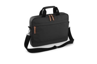Bagbase Campus Padded Laptop Compatible Briefcase Bag (Black) (One Size)