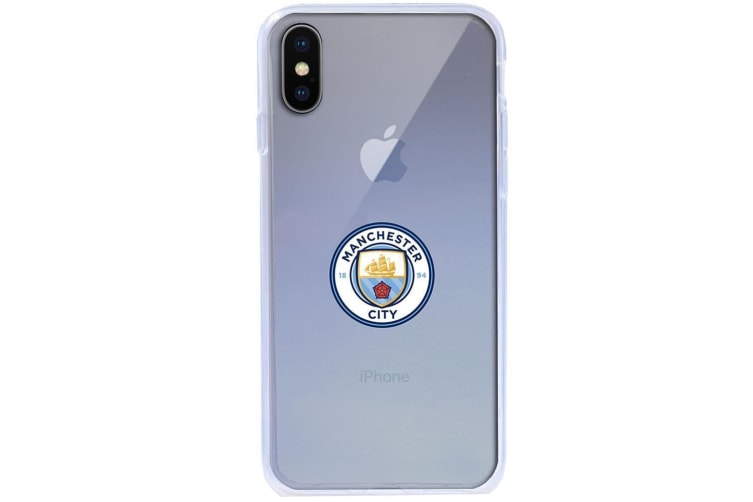 Manchester City FC iPhone X TPU Case (Transparent) (One Size)