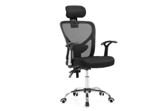Reclining Mesh Ergonomic office computer chair - Black