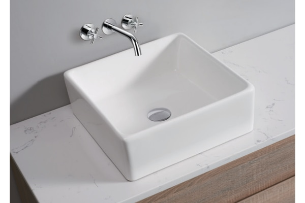 Dick Smith White High Gloss Ceramic Bathroom Sink Basin Above