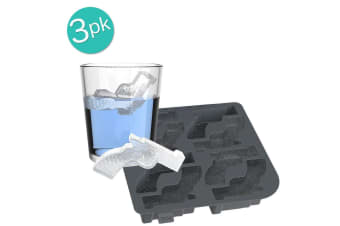 True Licence to Chill Ice 24 Gun Shape Cube Tray Maker Mould Silicone Tool Black