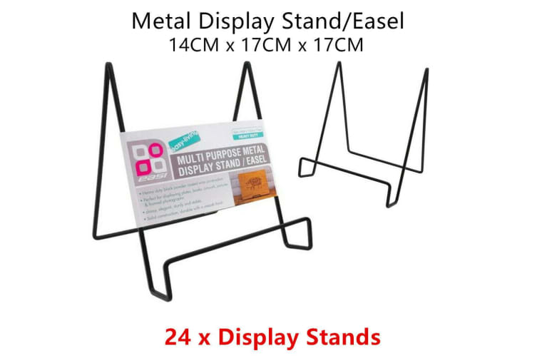 24 x Metal Display Stand Easel Rack Paper Document Photo Picture Plate Holder Office