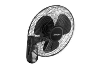 Devanti 40cm Wall Mountable Fan (Black)