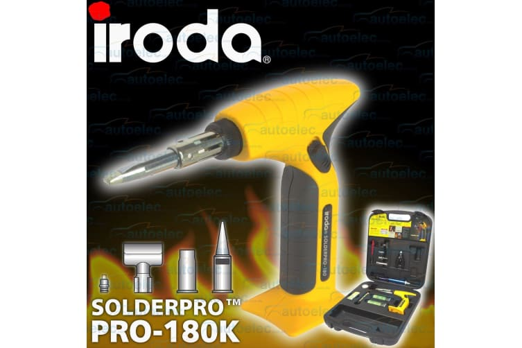 IRODA PRO 180K GAS MULTIFUNCTION SOLDERING IRON & WELDING KIT HEAT GUN TOOL KIT