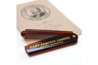 Capt Fawcett's Folding Mens Beard Comb