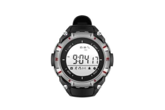 Sport Smart Watch Multi-functional Wristwatch BT4.0 Smartwatch Support Pedometer Camera Remoter Call SMS Reminder Alarm Clock for iOS Android Smart Phones Silver