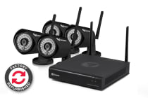Swann 4 Channel 1080p 1TB Wireless Monitoring System with 4 x Wireless Cameras - Refurbished