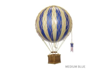 Ornamental Vintage Hot Air Balloons - Medium Blue