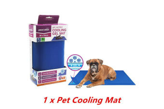 Pet Comfort Cooling Gel Mat 90X50CM Dog Cat Non Toxic Summer Bed Hot Weather