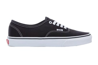 Vans Unisex Authentic Black Shoe (Black, Size 4 US)