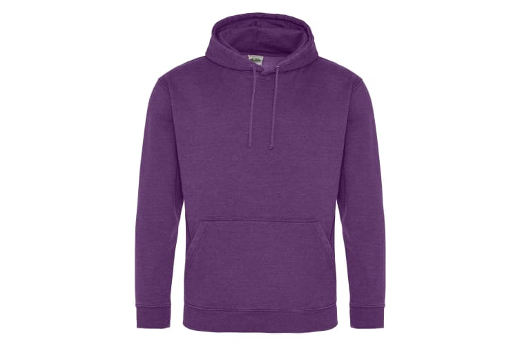 AWDis Hoods Adults Unisex Washed Look Hoodie (Washed Purple) (2XL)