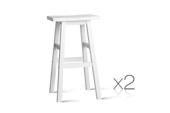 Set of 2 Baden Bar Stools (White)