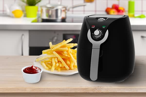 Kitchen Couture 3.4L Low Fat 1400W Air Fryer (Black)