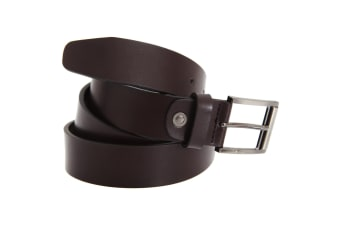 FLOSO Mens Leather Lined Belt (Brown)